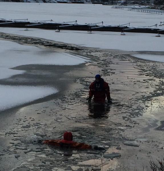 Oroande i Ringparken och vid Duvnäsviken 2016-01-05