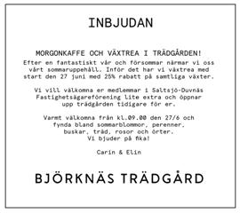 Morgonkaffe och växtrea i Björknäs trädgård