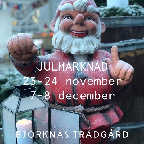 Julmarknad Björknäs trädgård
